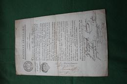 PATENTE DE MARCHAND VITRIER 1791 GIRONDE - Seals Of Generality