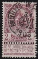 Belgie       .       OBP    .     55         .         O         .    Gebruikt   .     /      .       Oblitéré - 1893-1900 Schmaler Bart