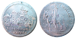 03020 GETTONE JETON TOKEN ADVERTISING COMMEMORATIVE LOCAL SCHLOSSBURG WUPPER ENGELBERT II - Allemagne