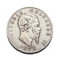 5 Lire - Vittorio Emanuele II - 1876 Roma - 1861-1946 : Regno