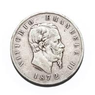 5 Lire - Vittorio Emanuele II - 1872 Milano - 1861-1946 : Regno