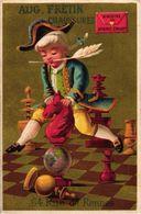 1 TRADE Card LITHO Chromo CHESS Game,  Jeu ECHECS,  SCHACH Spiel  - AUGUSTE FRETIN Horse Tower - Chess