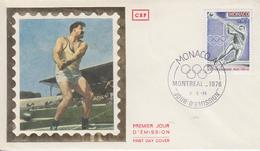 Enveloppe  1er  Jour   MONACO    Jeux  Olympiques  MONTREAL   1976 - Estate 1976: Montreal