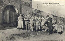 88)   SAINTE  BARBE   - Mr. Maurice Barrès - La Jeunesse Porte Drapeaux Et Pervenches Sur Les Tombes - France