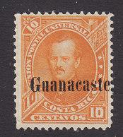 Costa Rica, Guanacaste, Scott #15, Mint No Gum, Fernandez Overprinted, Issued 1885 - Costa Rica