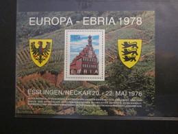 BRD Vignette EBRIA 1978  (B17) - Ungebraucht