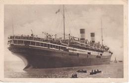 POSTAL DEL BARCO AUGUSTUS   (BARCO-SHIP) MEDITERRANEO - AMERICA DEL NORTE - Comercio