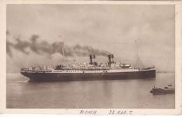 POSTAL DEL BARCO ROMA (BARCO-SHIP) MEDITERRANEO - AMERICA DEL NORTE - Comercio