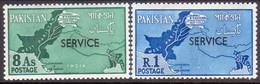 PAKISTAN 1961 SG #O66-67 Compl.set MNH Official Map - Pakistan