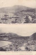 Martinique - St Pierre, Deux Vues Avant/après L'éruption De 1902 De La Ville Détruite à 100% - Circ Sans Date - Autres