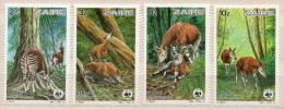 Zaire MNH Okapi, WWF Set And SS - Unused Stamps