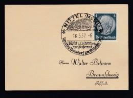 DR Sonderstempel 1937 Nittel Mosel K1258 - Poststempel - Freistempel