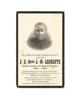 """P 343. Z.E. Heer J.M.GENAERTS -Pastoor-Deken ST-TRUIDEN-Lid Derde Orde / """"pro Ecclesia Et Pontifice""""-°ZONHOVEN1838/+1903 - Images Religieuses"""