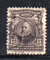 T2177 - STATI UNITI 1902 , 13 Cent  Yvert N. 152  Usato - Used Stamps