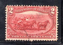 T2182 - STATI UNITI 1898 , 2 Cent  Yvert N. 130  Usato. - Used Stamps