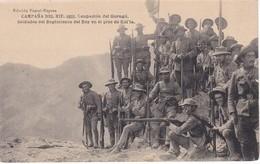 POSTAL DE LA CAMPAÑA DEL RIF DEL AÑO 1921 - OCUPACION DEL GURUGU- SOLDADOS DEL REGIMIENTO DEL REY EN EL PICO KOL'LA - Otras Guerras