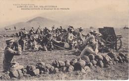 POSTAL DE LA CAMPAÑA DEL RIF DEL AÑO 1921 - IRGUEMAN - BATERIA BATIENDO AL ENEMIGO EN LA RETIRADA (MARRUECOS) - Otras Guerras
