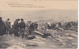 POSTAL DE LA CAMPAÑA DEL RIF DEL AÑO 1921 - RAS MEDUA - BATERIA CAÑONEANDO AL ENEMIGO DESDE LA ESPONJA (MARRUECOS) - Otras Guerras
