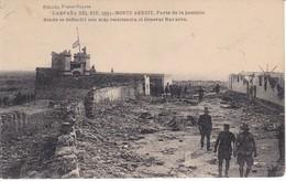 POSTAL DE LA CAMPAÑA DEL RIF DEL AÑO 1921 - MONTE ARRUIT- PARTE POSICION DEFENSA GENERAL NAVARRO (MARRUECOS) - Otras Guerras