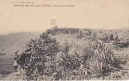 POSTAL DE LA CAMPAÑA DEL RIF DEL AÑO 1921 - TAXUDA - VISTA DE LA POSICION  (MARRUECOS)  HAUSER Y MENET - Otras Guerras