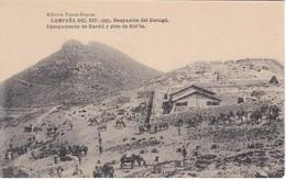 POSTAL DE LA CAMPAÑA DEL RIF DEL AÑO 1921 - OCUPACION DE GURUGU - CAMPAMENTO DE HARDU Y PICO KOL'LA (MARRUECOS) - Otras Guerras