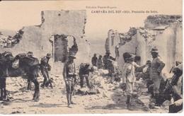 POSTAL DE LA CAMPAÑA DEL RIF DEL AÑO 1921 - POSICION DE SEBT (MARRUECOS) HAUSER Y MENET - Otras Guerras