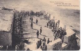 POSTAL DE LA CAMPAÑA DEL RIF DEL AÑO 1921 - BATERIA EMPLAZADA EN TAUIMA (MARRUECOS) HAUSER Y MENET - Otras Guerras