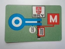 D156611 Hungary  - Local Transport Budapest  BKV Bus Tram Train Subway  - Pocket Calendar - Calendrier Poche 1970 - Calendars