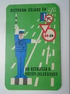 D156612 Hungary  - Traffic Signs  - Policeman -ÁB Insurance Comp.   - Pocket Calendar - Calendrier Poche 1965 - Calendars
