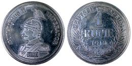 00218 GETTONE JETON TOKEN COMMEMORATIVE REPRO COIN DEUTSCH OSTAERIKA 1 RUPIE 1910 GIULELMUS II IMPERATOR - Allemagne
