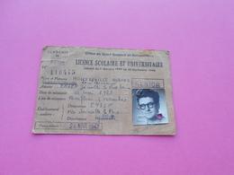 Carte Office Du Sport  Scolaire Et Universitaire  Licence Scolaire    1947 - Sports