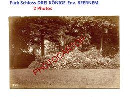 Park-Schloss DREIKÖNIGE-Env. BEERNEM-2x PHOTOS Mates All.-Cliche 718/751-Inf. Regt.182-GUERRE 14-18-1 WK-Militaria-Belgi - Beernem