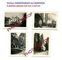 Schloss DREIKÖNIGE-Env. BEERNEM-4x Petites PHOTOS Allemandes-Inf. Regt.182-GUERRE 14-18-1 WK-Militaria-Belgien- - Beernem