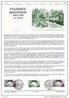 """FRANCE 1987 : Document Philatélique Officiel N° 0-87 """" FULGENCE BIENVENÜE """" 2 X N° YT 2452. Parfait état ! DPO - Tramways"""