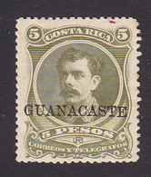 Costa Rica, Guanacaste, Scott #63, Mint Hinged, Alfaro Overprinted, Issued 1889 - Costa Rica