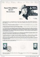 """Document Philatélique Officiel De 1987 N° 03-87 """" RAOUL FOLLEREAU """" N° YT 2453 LEPRE. Parfait état ! DPO - Documents De La Poste"""