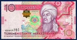TURKMENISTAN 10 MANAT P-31 CENTRAL BANK 2012 UNC - Turkmenistan