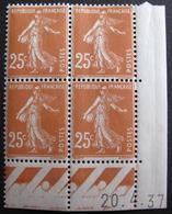 Lot FD/440 - SEMEUSE N°235 - BLOC NEUF** COIN DATE : 20/4/37 - Coins Datés