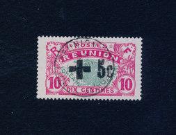 RÉUNION 1915 - Croix Rouge Yvert N°80 Oblitéré ° Cote 150€ - Gebruikt