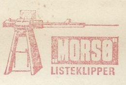 EMA AFS METER STAMP FREISTEMPEL -  DANMARK Morsø LISTEKLIPPER WOOD WORKING CUTTERS - Factories & Industries