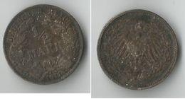 ALLEMAGNE   1/2  MARK 1911 ARGENT - [ 2] 1871-1918: Deutsches Kaiserreich