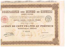 Action Ancienne - Cie Des Mines De Siguiri - Titre De 1908 - - Afrique