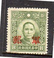 Kwangsi Military Mail MNH Chan # Mg (134) - China