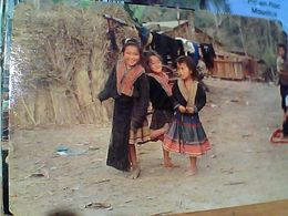 THAILAND THAI HILL TRIBE  MEO CHILDRENS BAMBINI COSTUME  VB1986  GN21038 ANGOLI TAGLATI - Tailandia