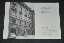 99   Hotel Delevo, Innsbruck - Werbekarte  / Auto / Car / Coche / Voiture - Innsbruck