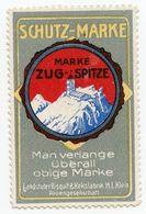 CINDERELLA : GERMANY - ZUG-SPITZE MARKE - SCHUTZ-MARKE - Cinderellas