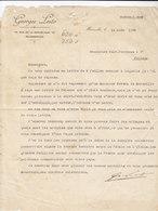 """MARSEILLE _ 1936  /  Fattura-Lettera   """" GEORGES LESTO  """" _ Firma - Agricoltura"""