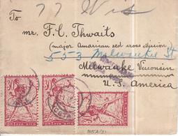 Yugoslavia 1919 Mostar Censored Cover To USA; Franked With Chainbreakers, Bottom Imperforated - 1919-1929 Königreich Der Serben, Kroaten & Slowenen