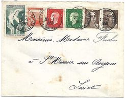 LF 999  Lettre De 1950 Timbres N°688-693-715x2-750-761 - 1921-1960: Période Moderne