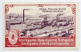 CINDERELLA : GERMANY - MAX HAUSCHILD, HOHENFICHTE - STRICKGARNE... - Cinderellas